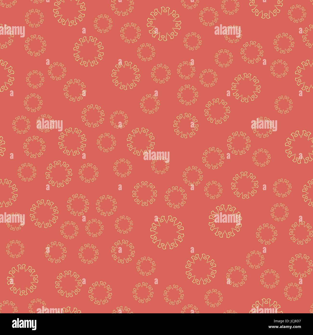 Seamless red flower mandala for print on textile, fabric, coloring ...