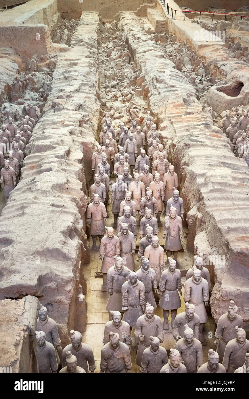 Warriors Terracotta Army, UNESCO, Xian, China - Stock Image