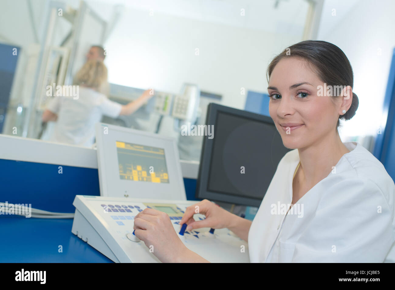 computed tomography or mri scanner test analysis - Stock Image