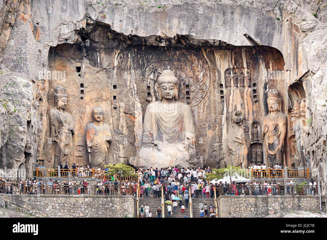 Longmen Grottoes, Luoyang, China - Stock Image