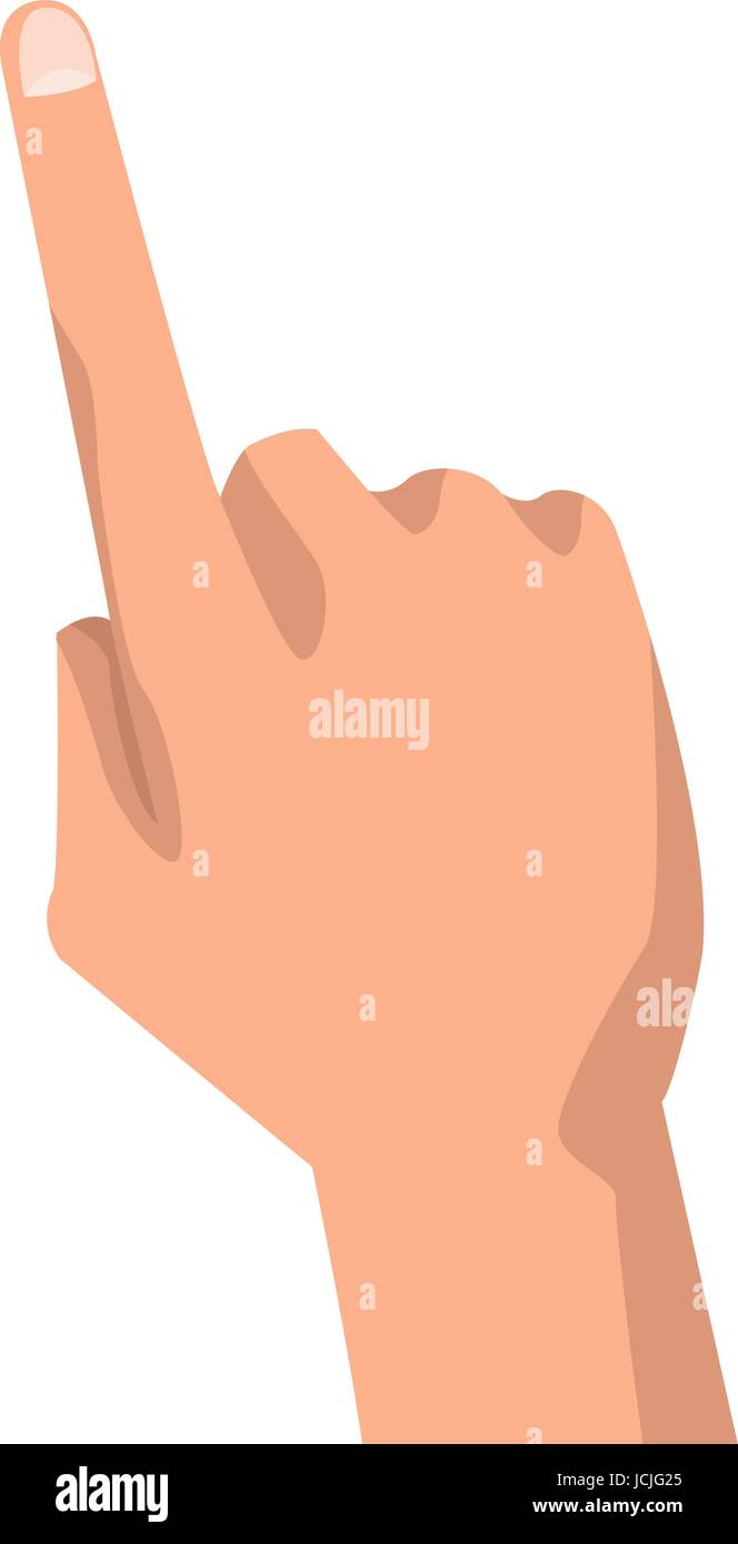 human hand pointing finger gesture - Stock Vector