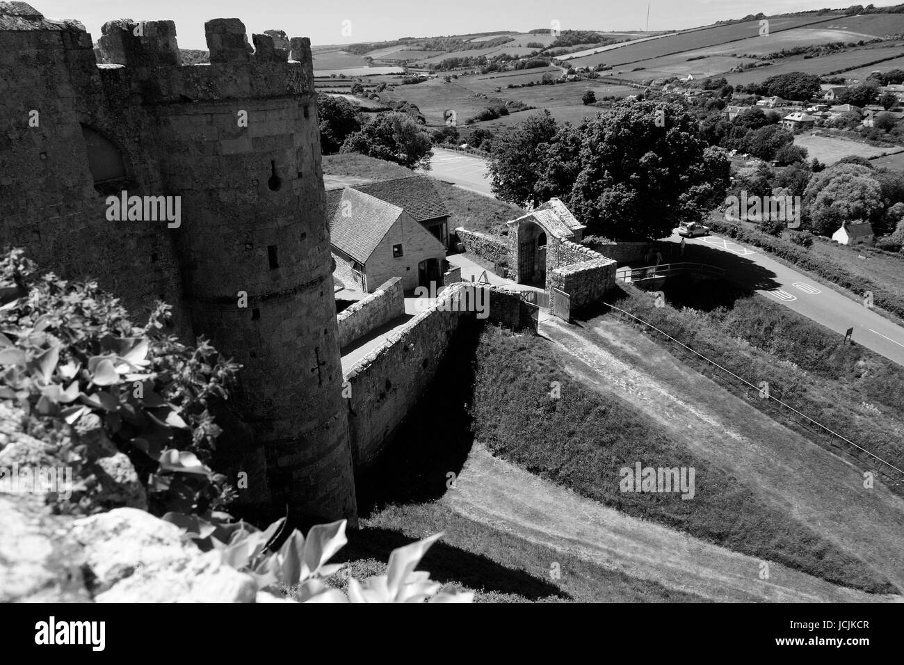 WALL RIGHT SIDE GATEHOUSE. - Stock Image