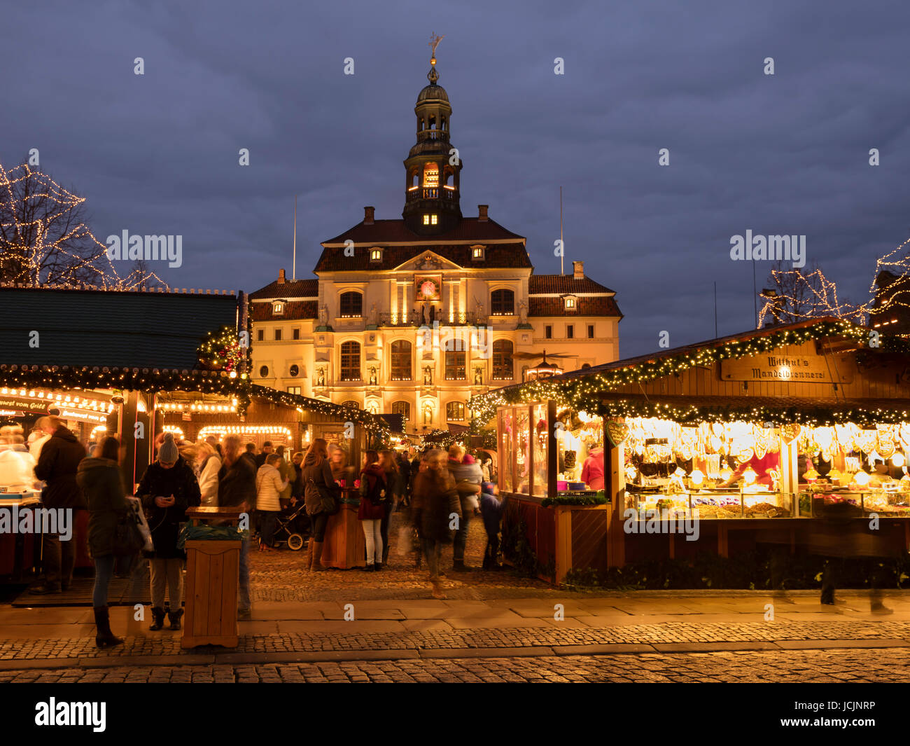 Town Hall, Christmas Market, market square, Lüneburg, Lower Saxony, Germany Stock Photo