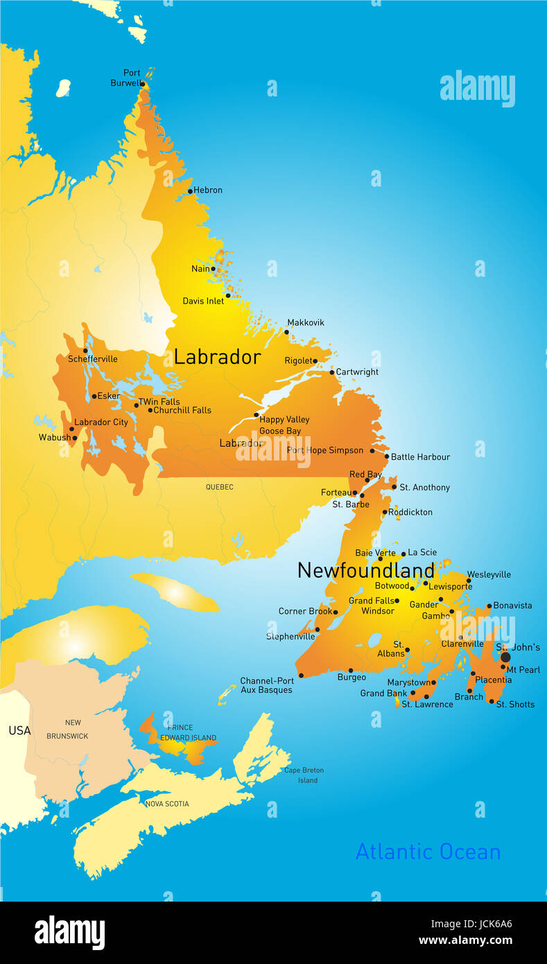 Travel Map Of Canada.Illustrated Map Of Canada Travel Map Stock Photos Illustrated Map