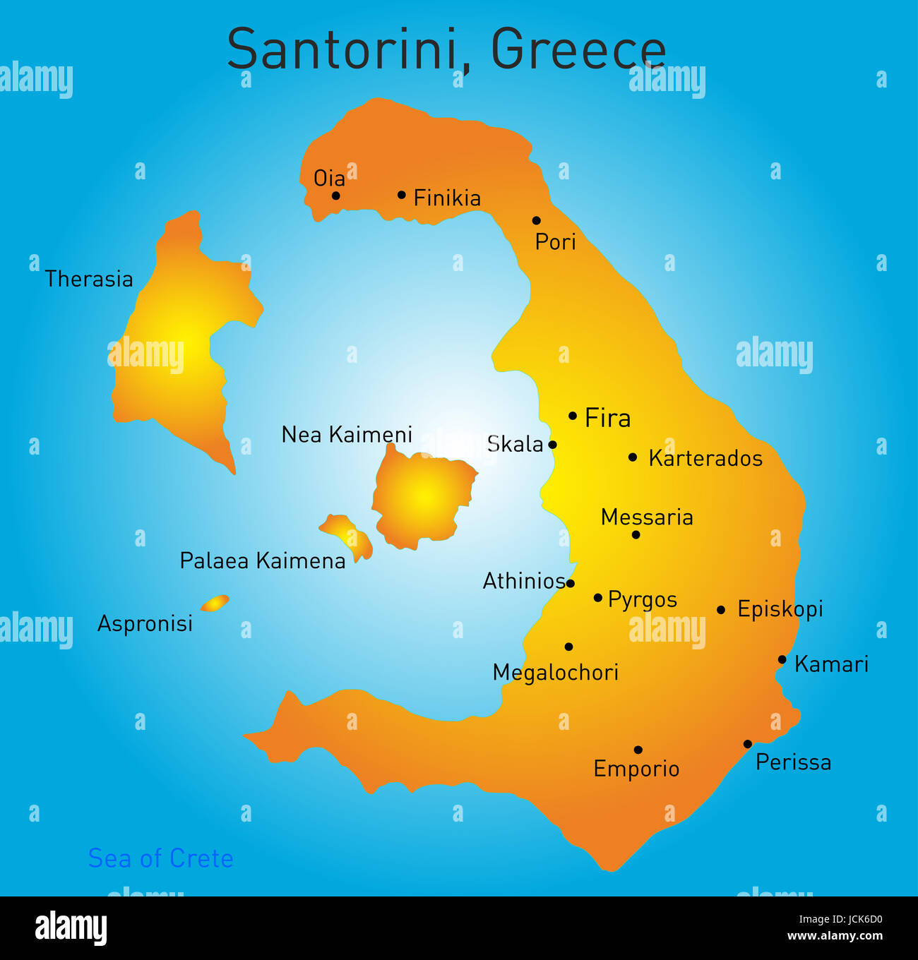 Cyclades Map Stock Photos Cyclades Map Stock Images Alamy