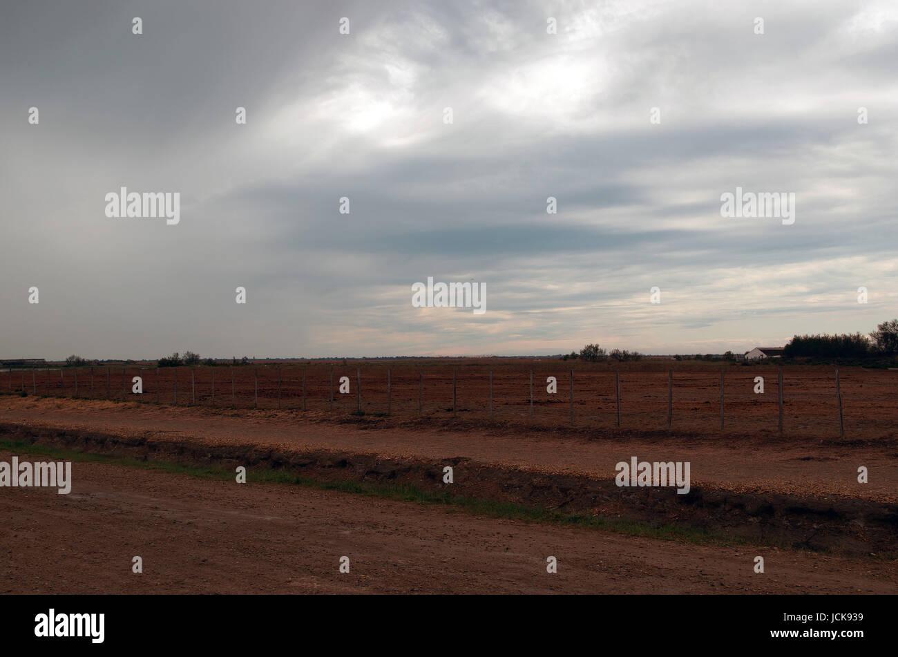 red landscape - Stock Image