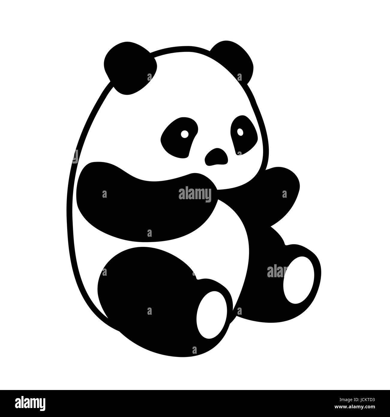 Panda Bear Black And White Stock Photos Images Alamy
