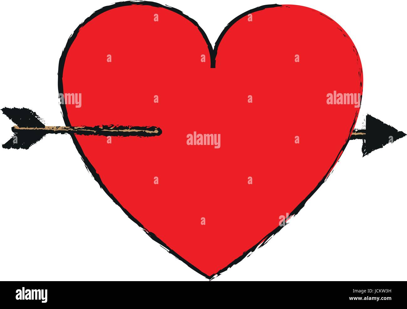 Cartoon Heart With Arrow Love Valentines Day Related Icon Icon I