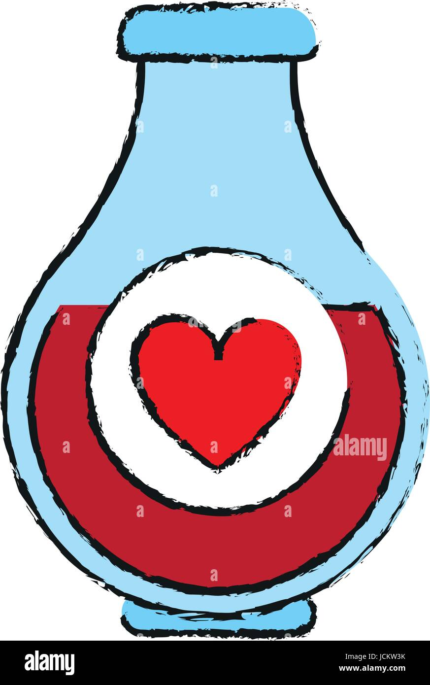 heart labeled flask or potion love valentines day related