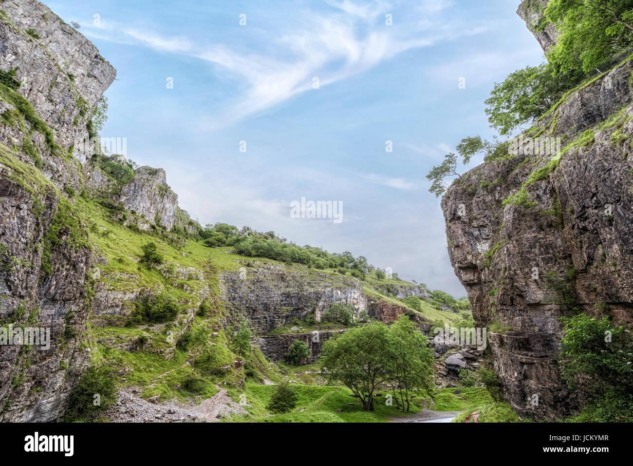 Cheddar Gorge, Mendip Hills, Somerset, England, UK - Stock Image