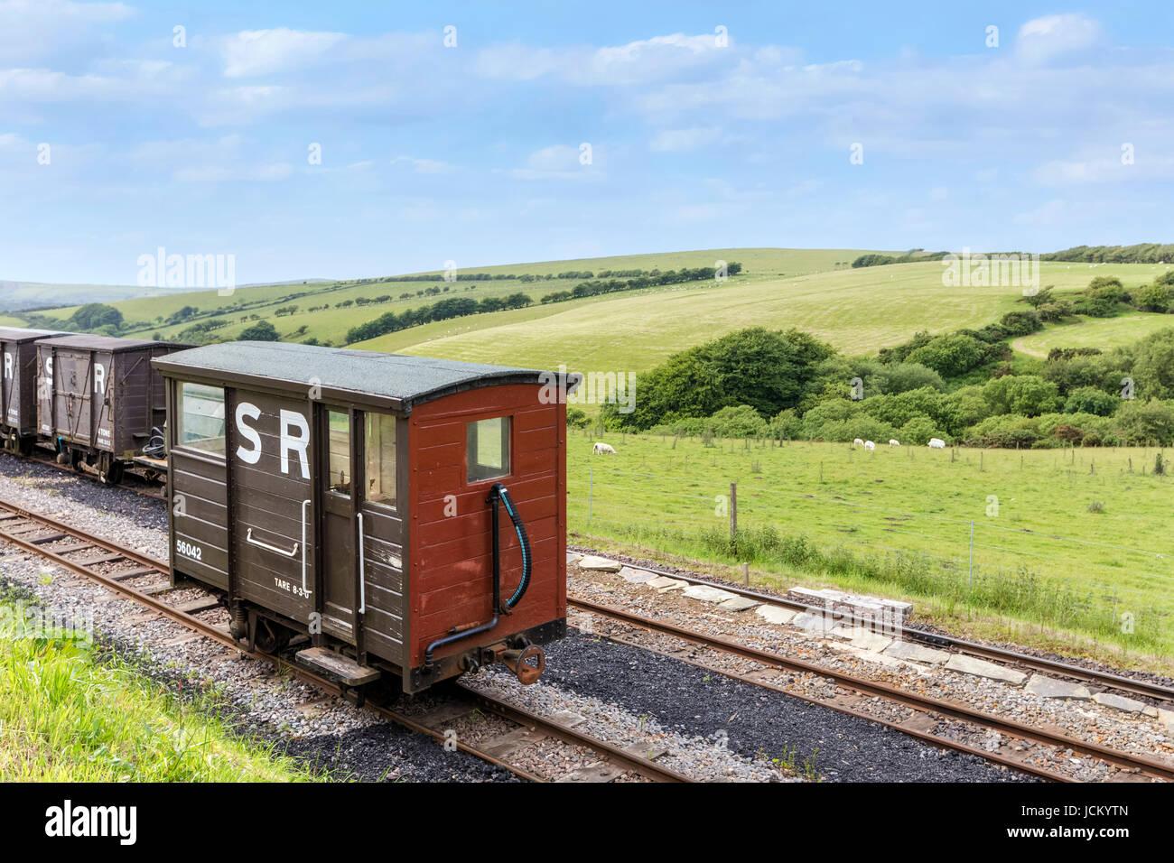 Woody Bay Railway Station, Lynton, Exmoor, Devon, England, UK - Stock Image