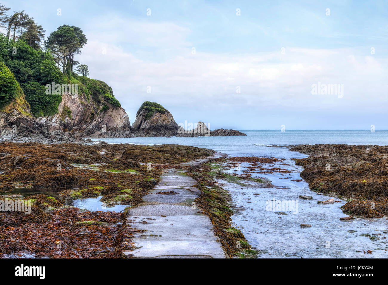 Lee Bay, Ilfracombe, Devon, England, UK - Stock Image