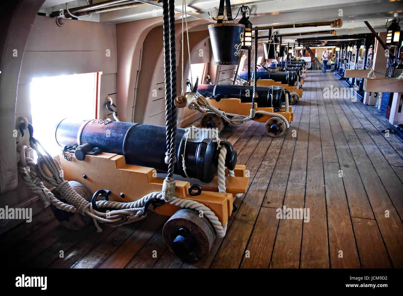 HMS Victory 104-gun first-rate ship of the line of the Royal Navy launched 1765. Nelson's flagship, Trafalgar 1805 Stock Photo