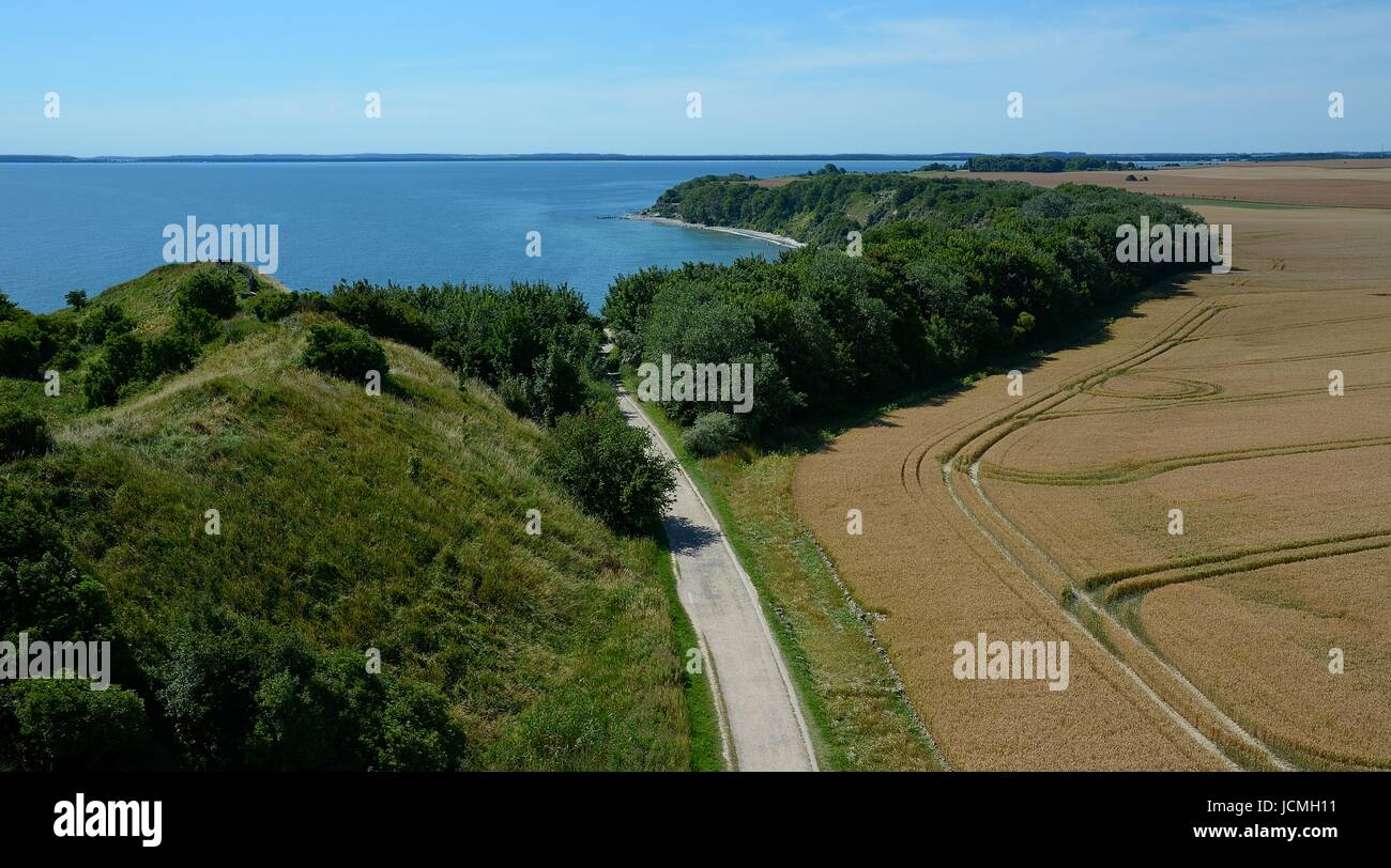 View from the Peilturm : Tromper Wiek and Vitt to the south - Stock Image