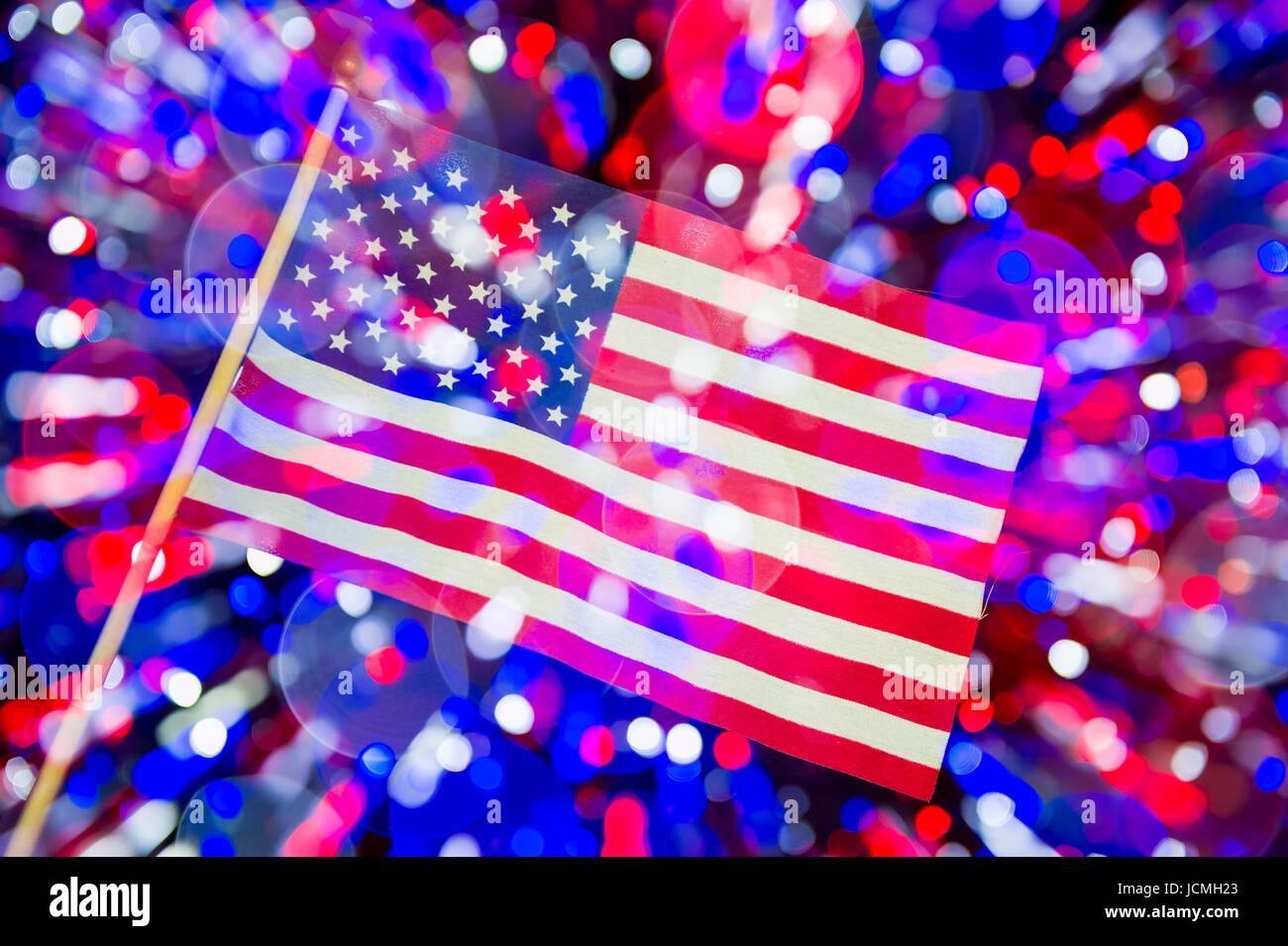 American Flag Fireworks Stock Photos & American Flag