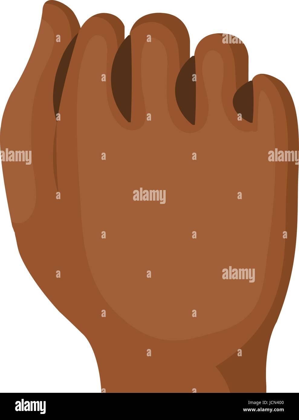 hand human fist icon - Stock Vector
