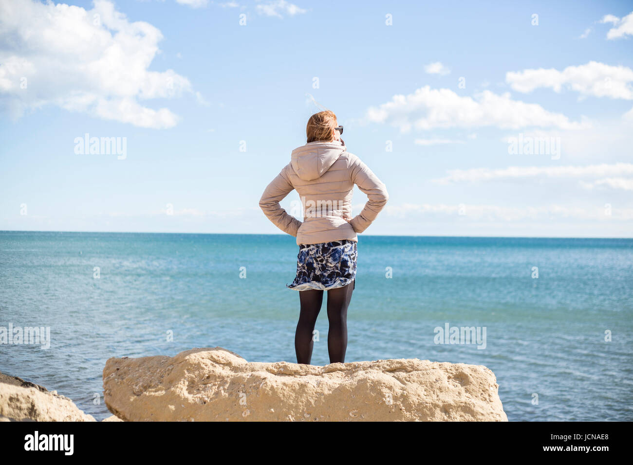 Looking out over the sea. Alicante in Spain - Stock Image