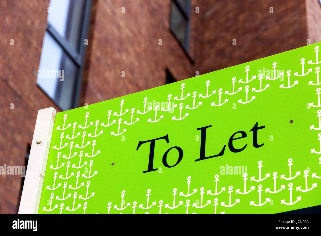 To Let signs outside a English townhouse - Stock Image