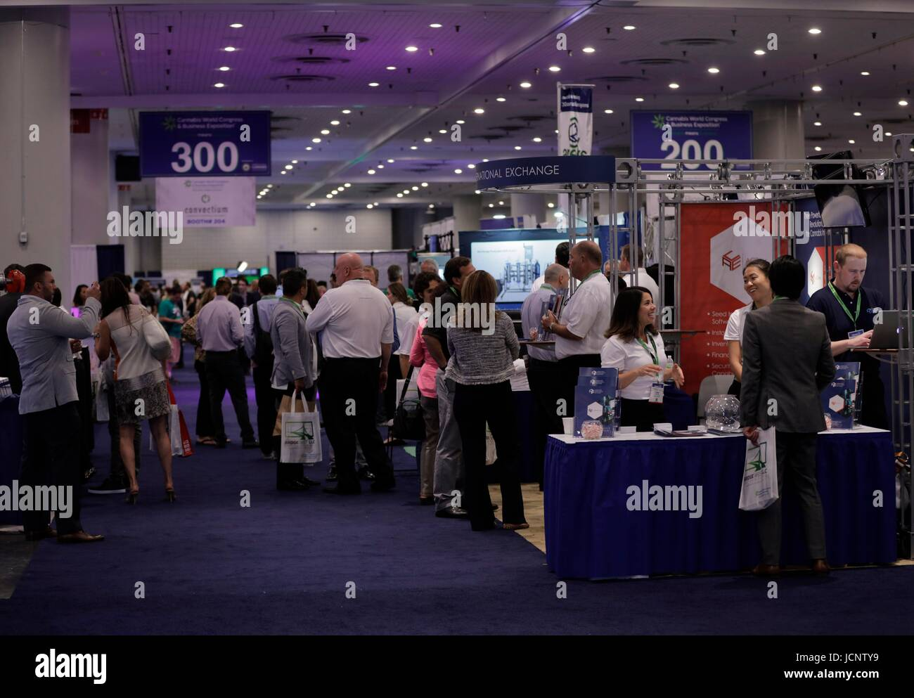 Javits Center, New York, USA, June 15 2017 - Representatives of the Cannabis Industry and Guests during the 4TH - Stock Image