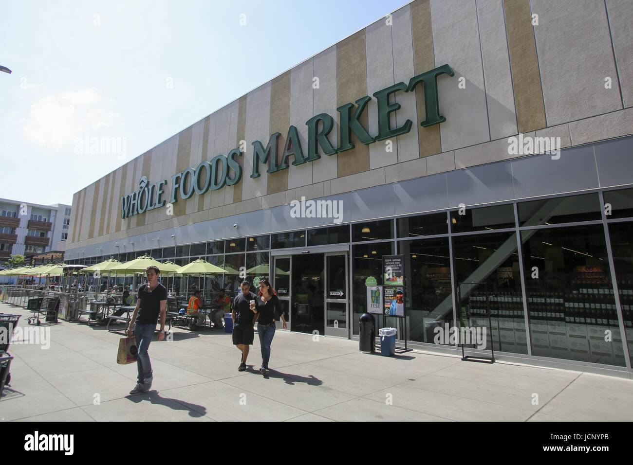 June 16, 2017 - FILE PHOTO - Amazon has acquired Whole Foods, a move that marks the e-commerce giant's official - Stock Image