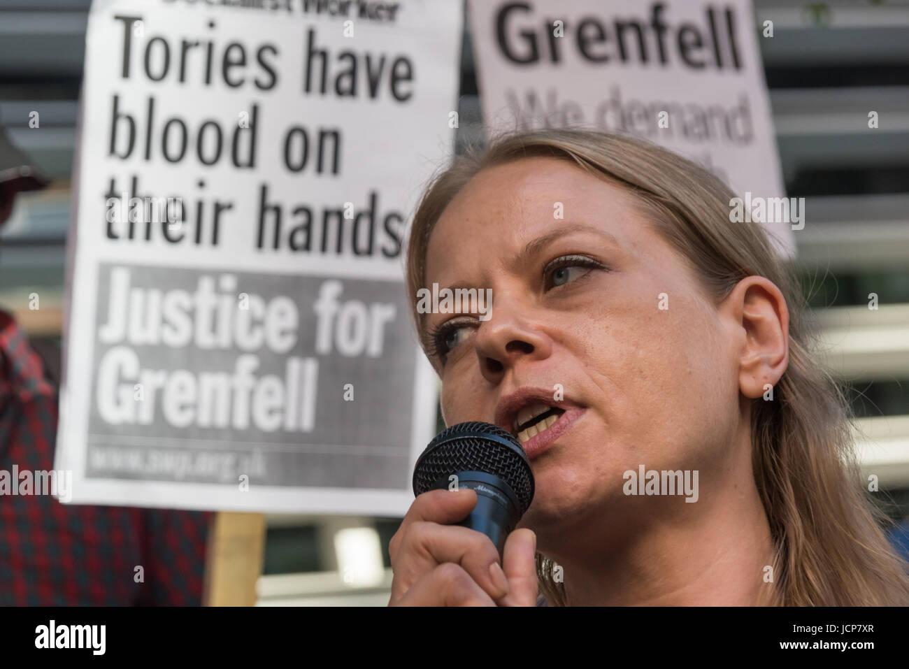 June 16, 2017 - London, UK - London, UK. 16th June 2017. Siân Berry, Green Party London Assembly Member - Stock Image