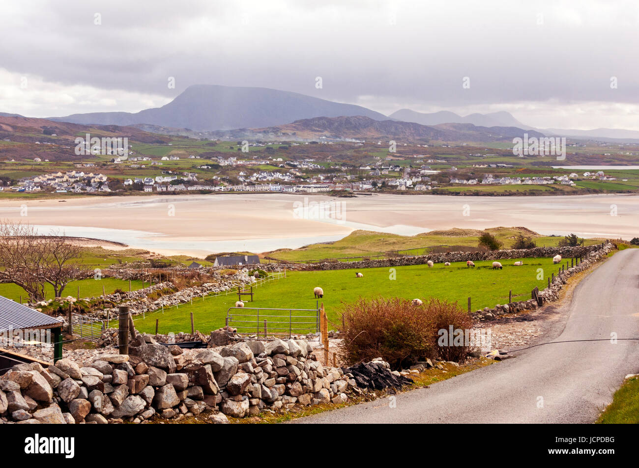 Views of Muckish Mountain, Dunfanaghy, County Donegal, Ireland - Stock Image