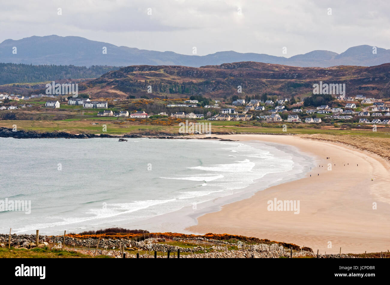Killahoey Beach from Horn Head loop road, Dunfanaghy, County Donegal, Ireland - Stock Image