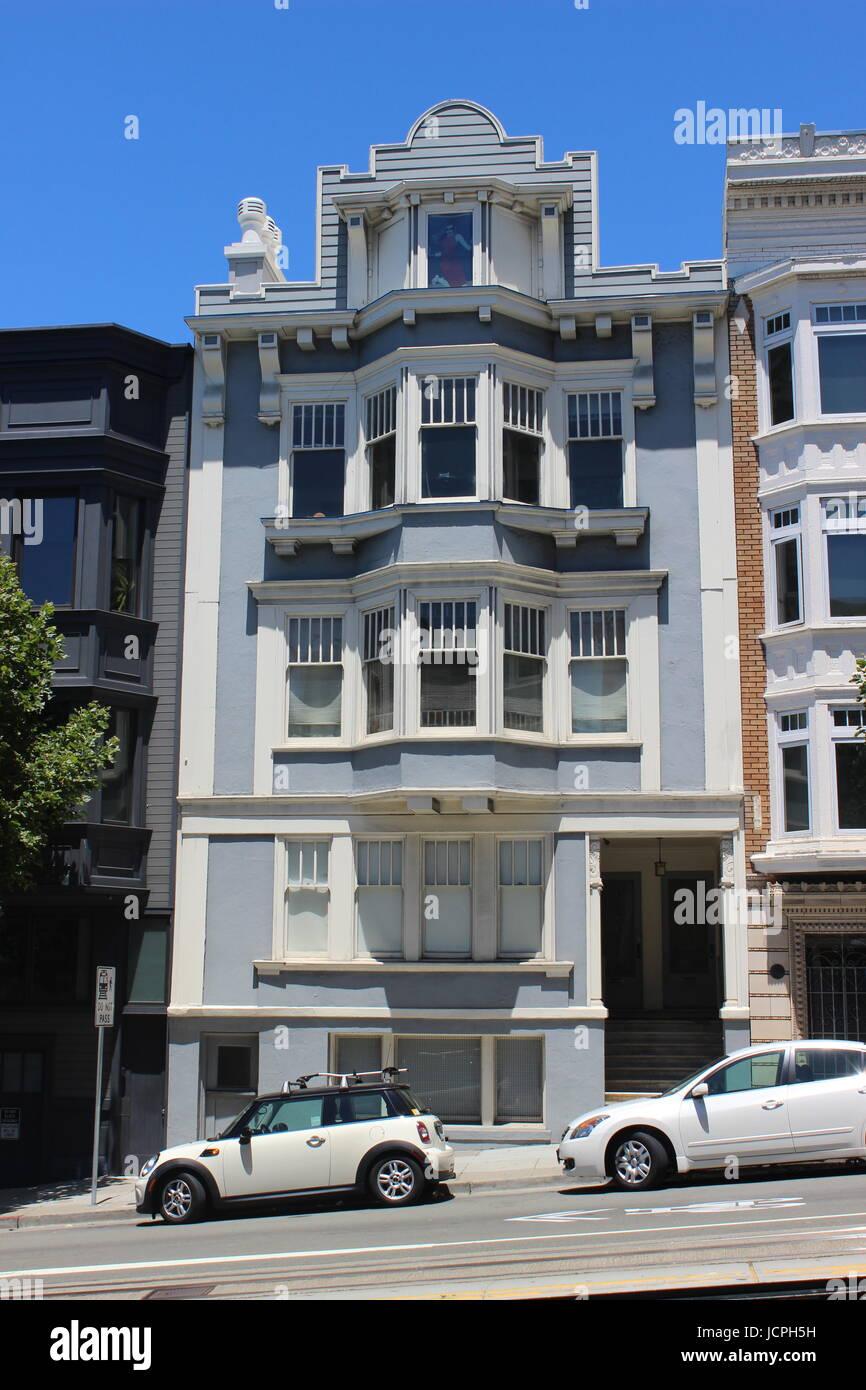 Beaux-Arts Flats, Nob Hill, San Francisco, California Stock Photo