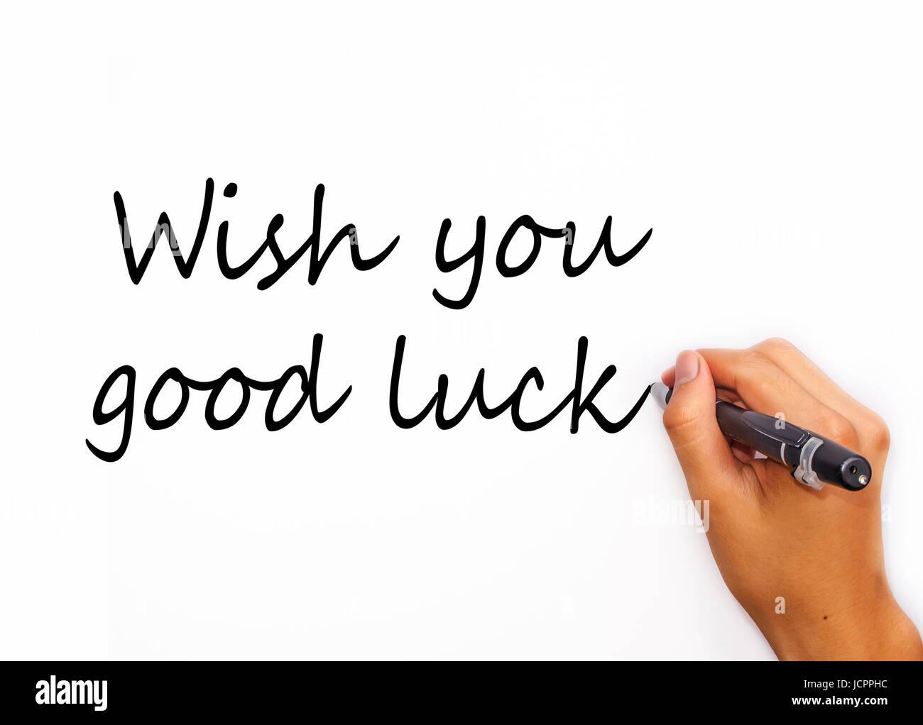 We Wish You Good Luck