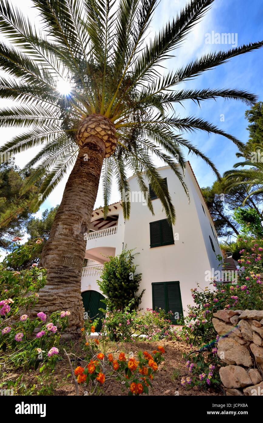 Holiday villa Menorca Spain - Stock Image