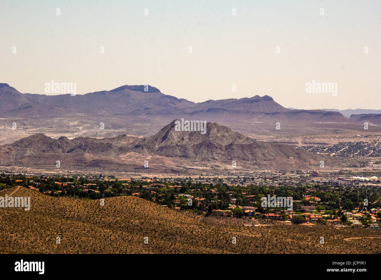 mountains surrounding El Paso - Stock Image