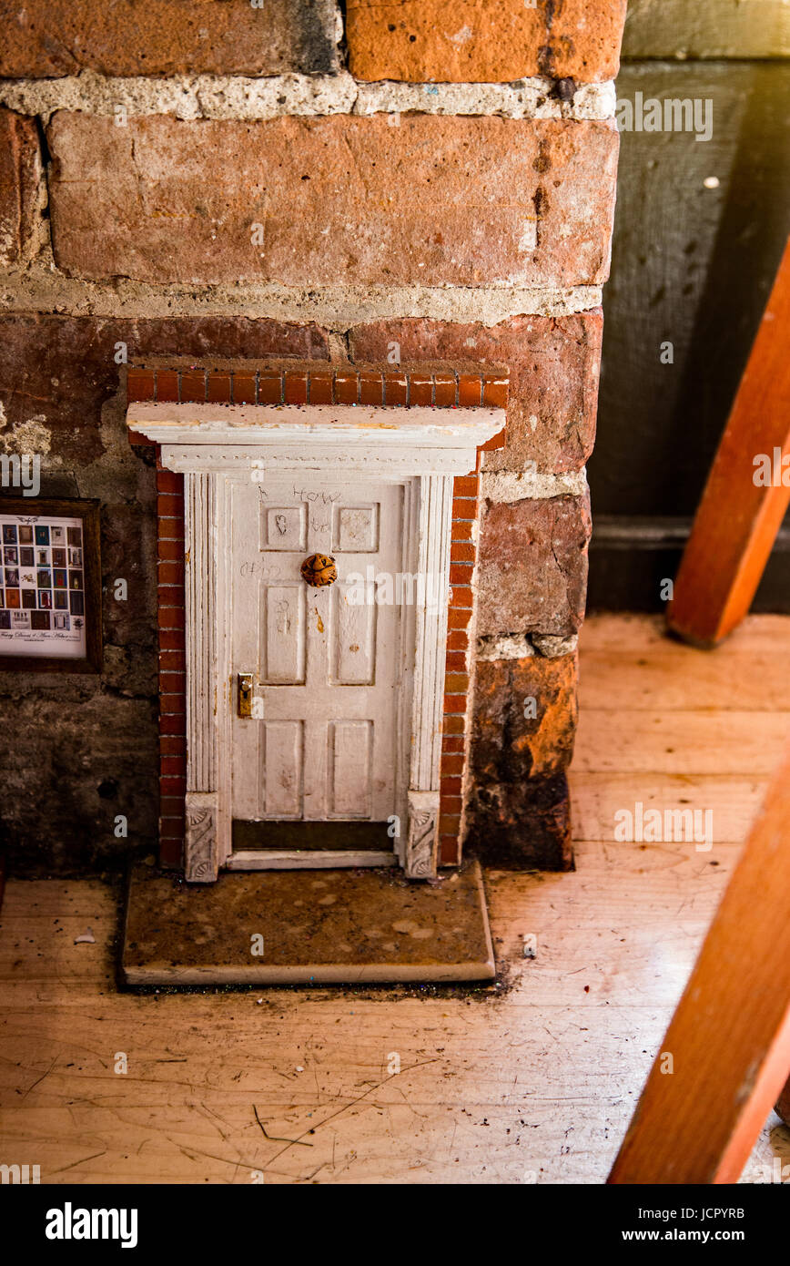 Ann Arbor is known for its fairy doors. - Stock Image