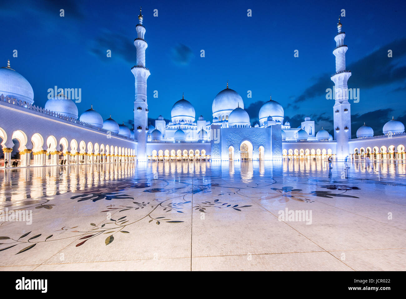 Abu Dhabi Grand Mosque - Stock Image