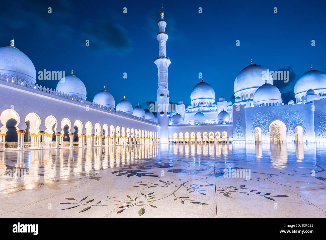 Abu Dhabi Grand Mosque - Stock Image