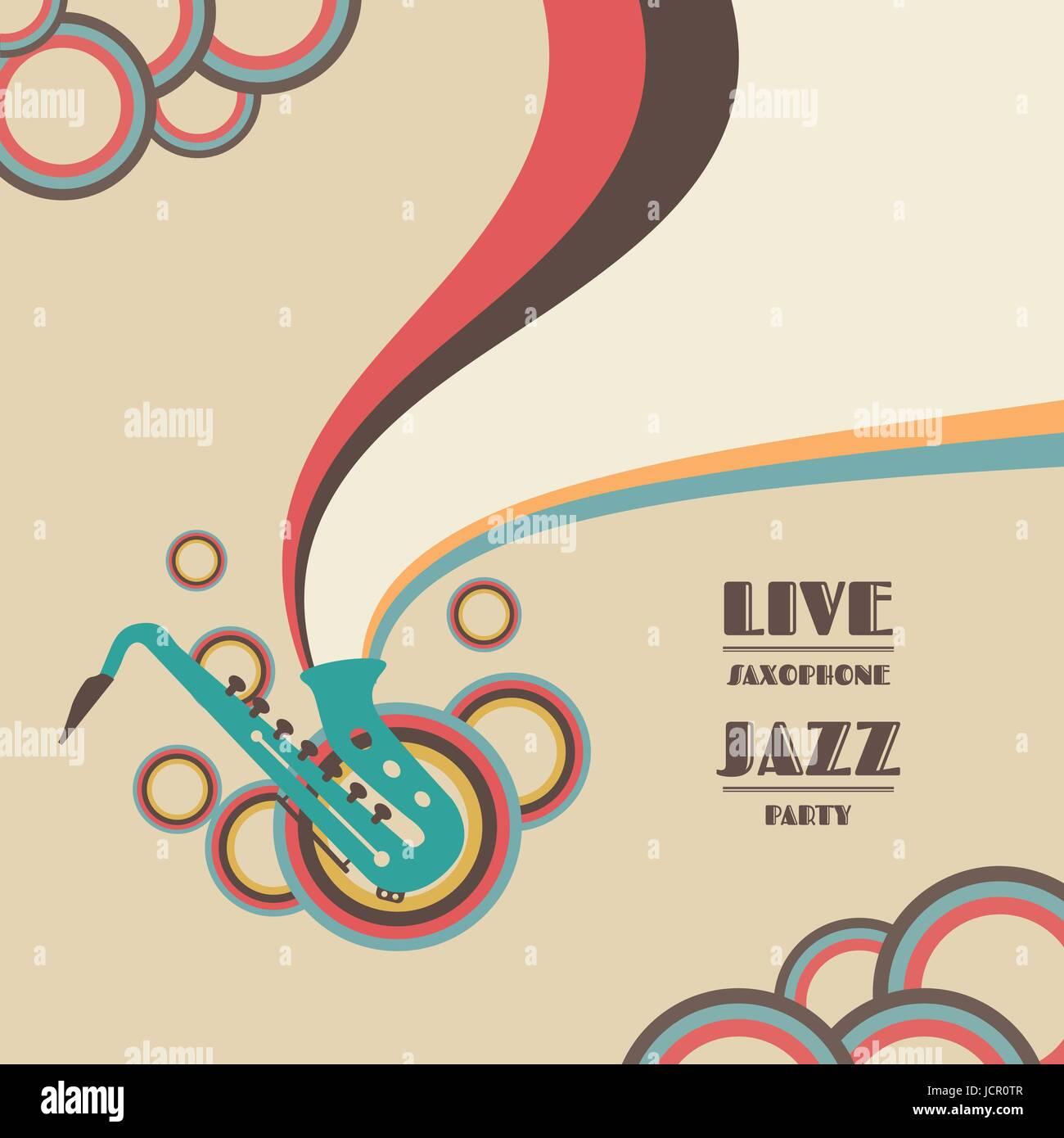 saxophone live show, jazz music concert - Stock Image