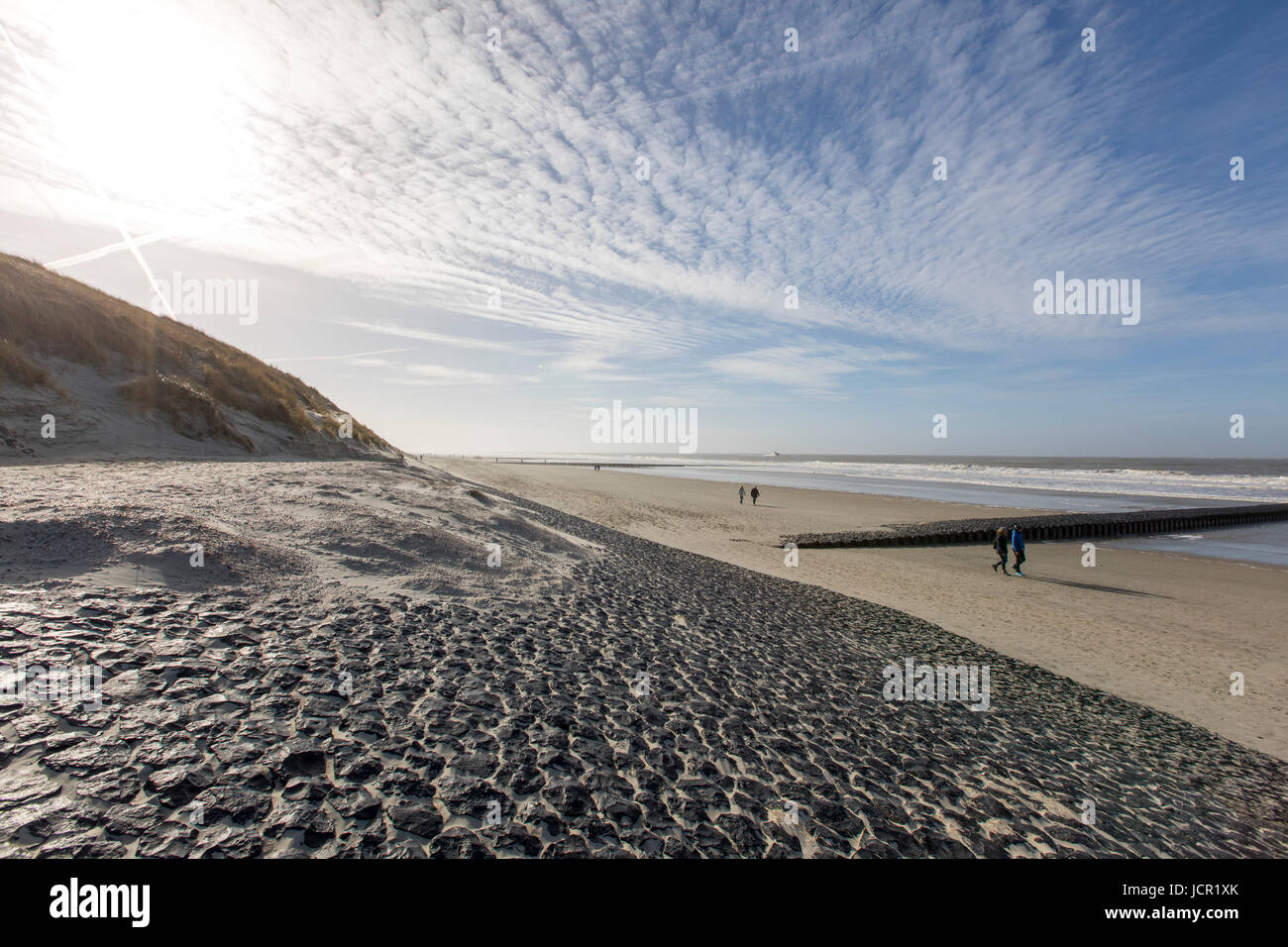 North Sea island, Norderney, East Frisia, Germany, Beach, - Stock Image