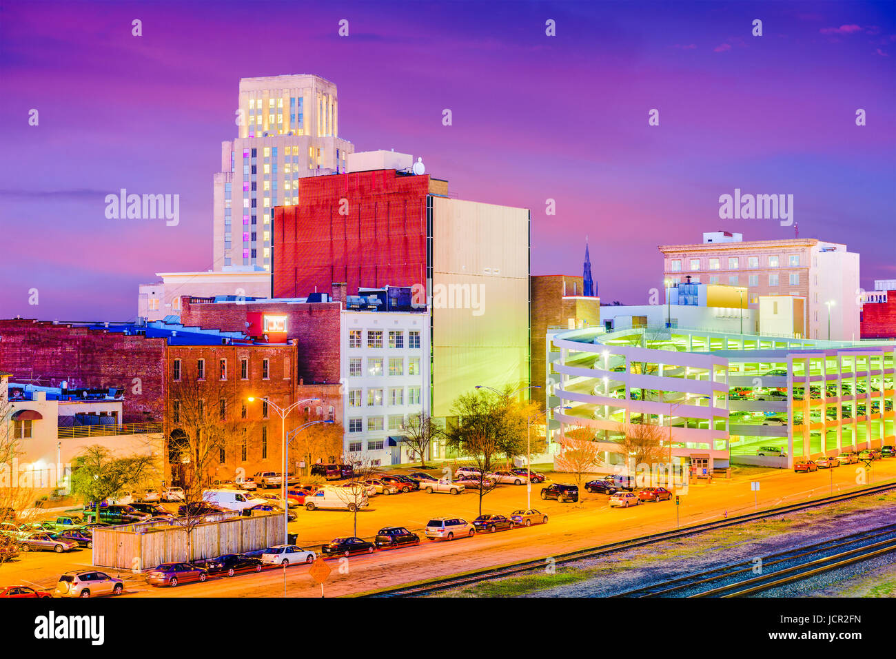 Durham, North Carolina, USA downtown skyline at twilight. - Stock Image