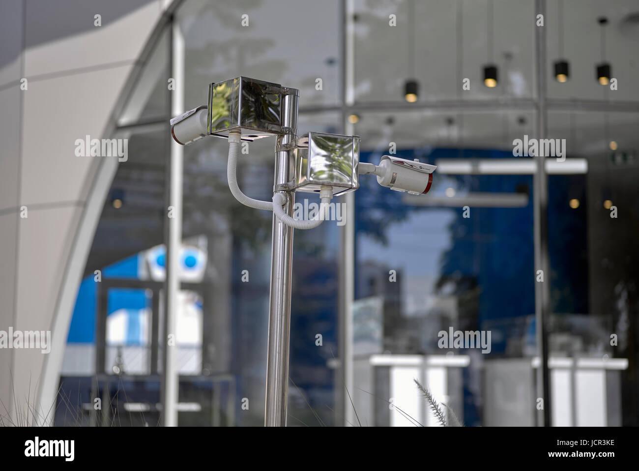 CCTV surveillance camera Stock Photo