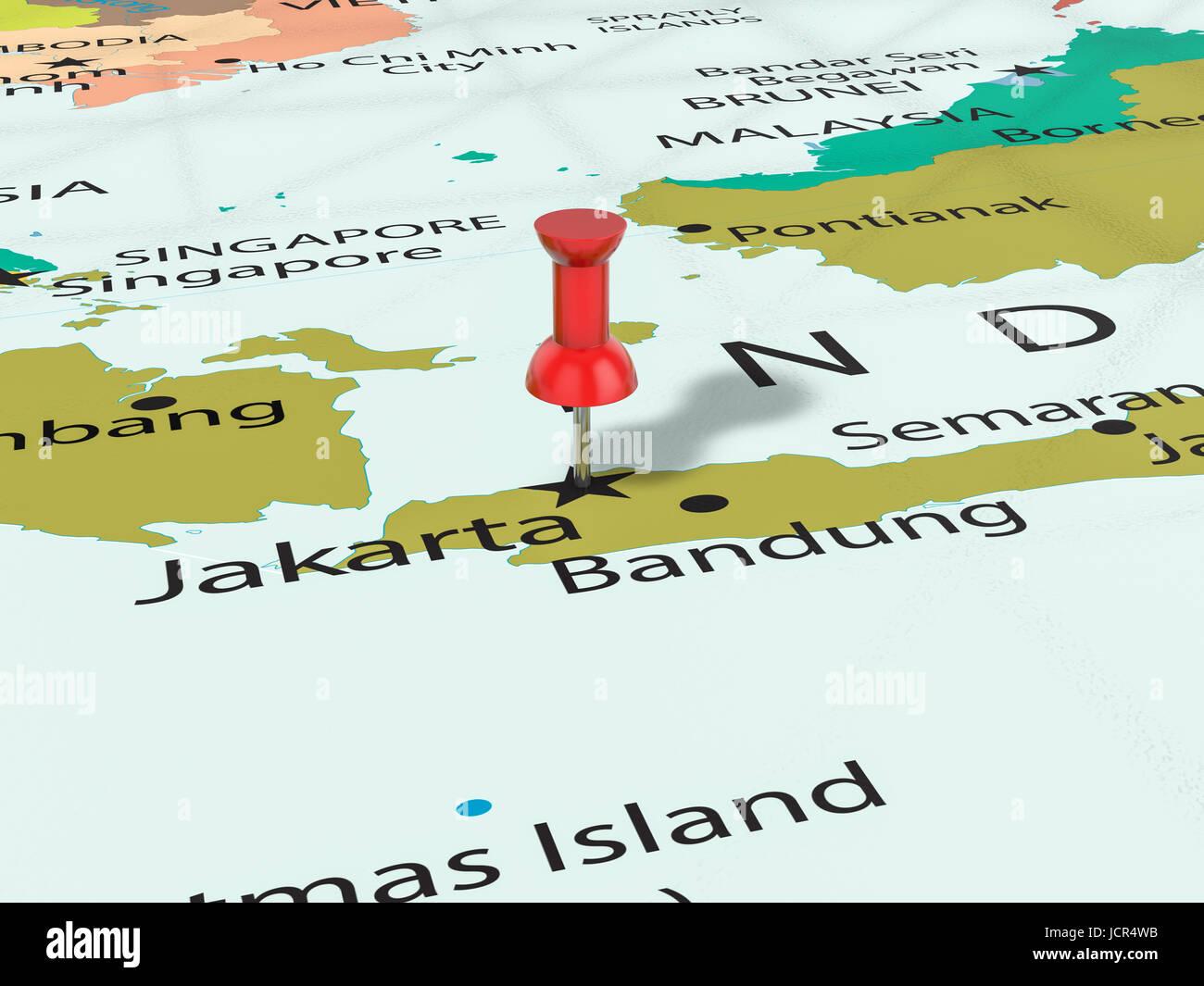 Map Of Asia Jakarta.Jakarta Pinned On Map Asia Stock Photos Jakarta Pinned On Map Asia