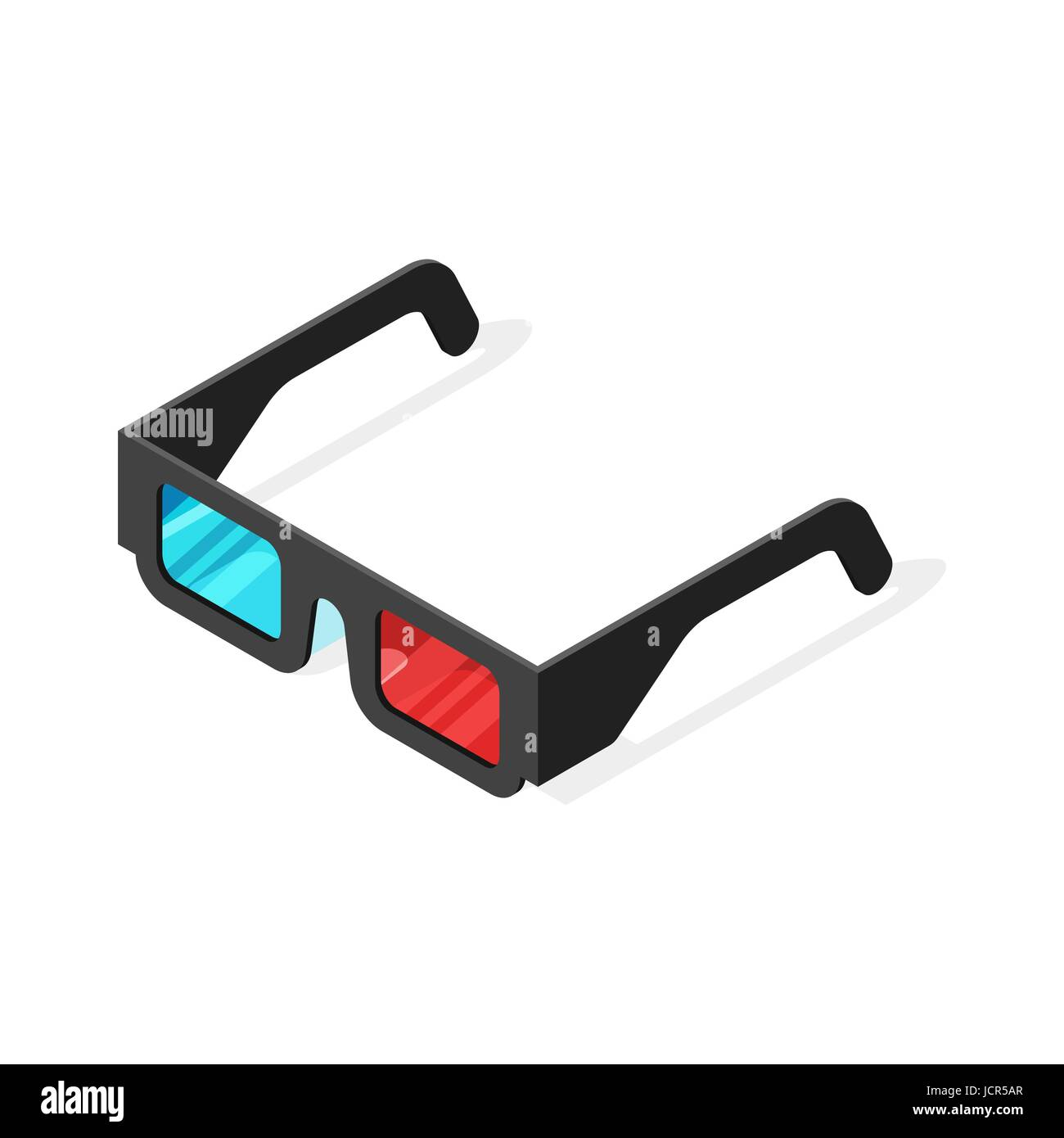 aebb8895c01 Isometric vector illustration of 3d glasses. Isolated on white background.  - Stock Vector