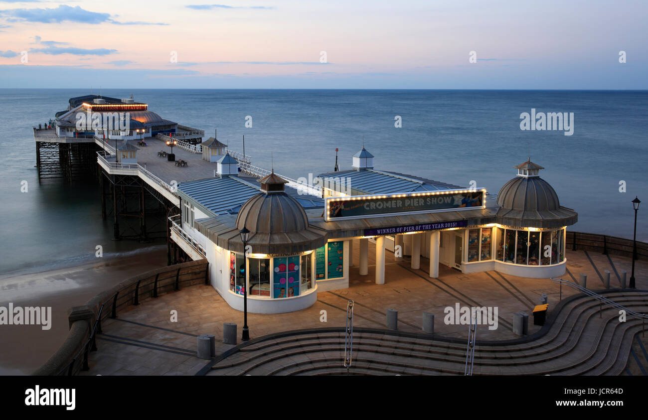 The traditional pier at Cromer, North Norfolk, England, Europe - Stock Image