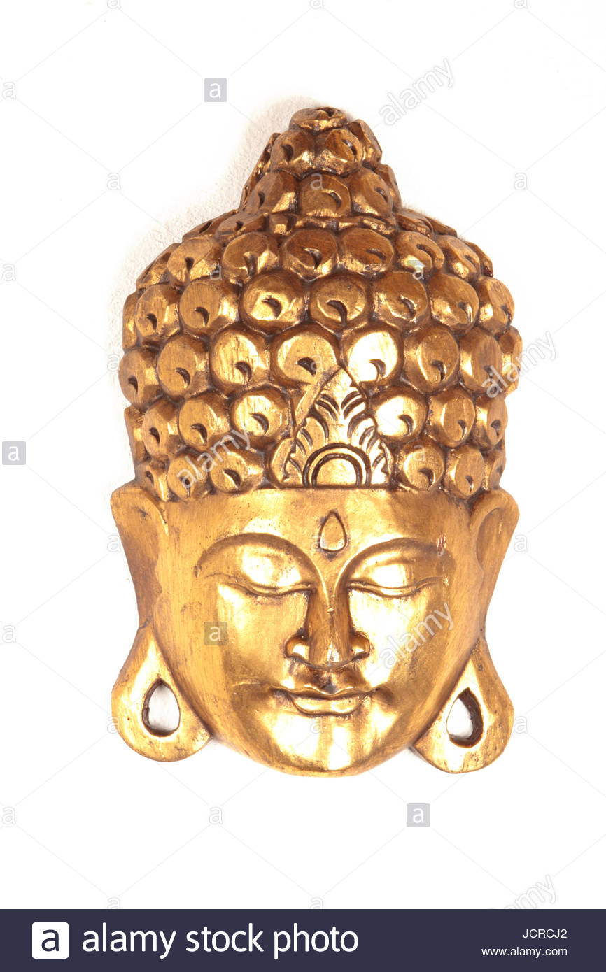 This Buddha mask is part of a huge, unique collection that consist hundreds of masks from all over the world. The - Stock Image
