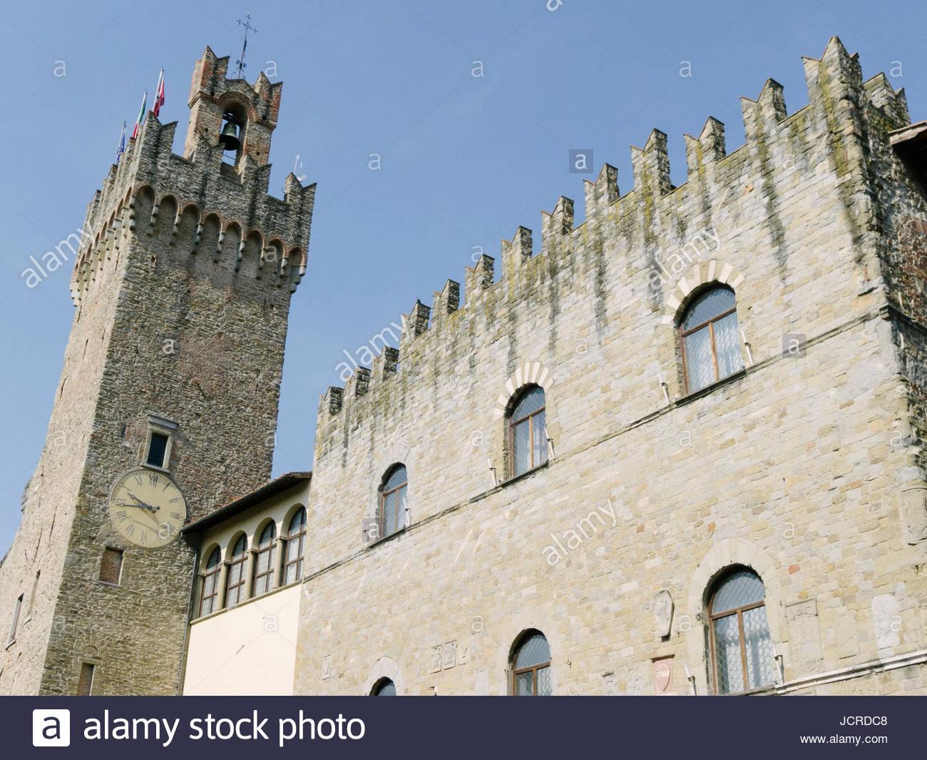 A chapel in Piazza Della Liberta in Arezzo. Stock Photo