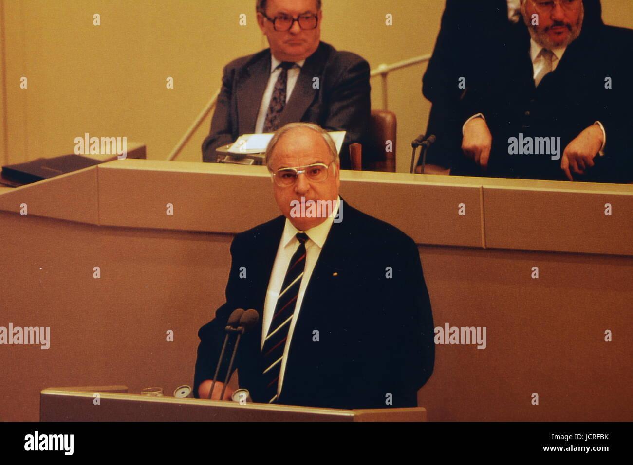 Bundeskanzler Kohl, Bonn 1990 - Stock Image
