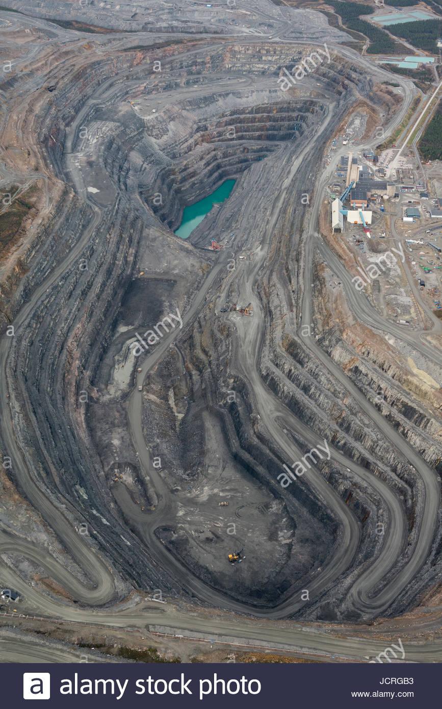 Mine in Gallivare. Swedish Lapland, Sweden. - Stock Image