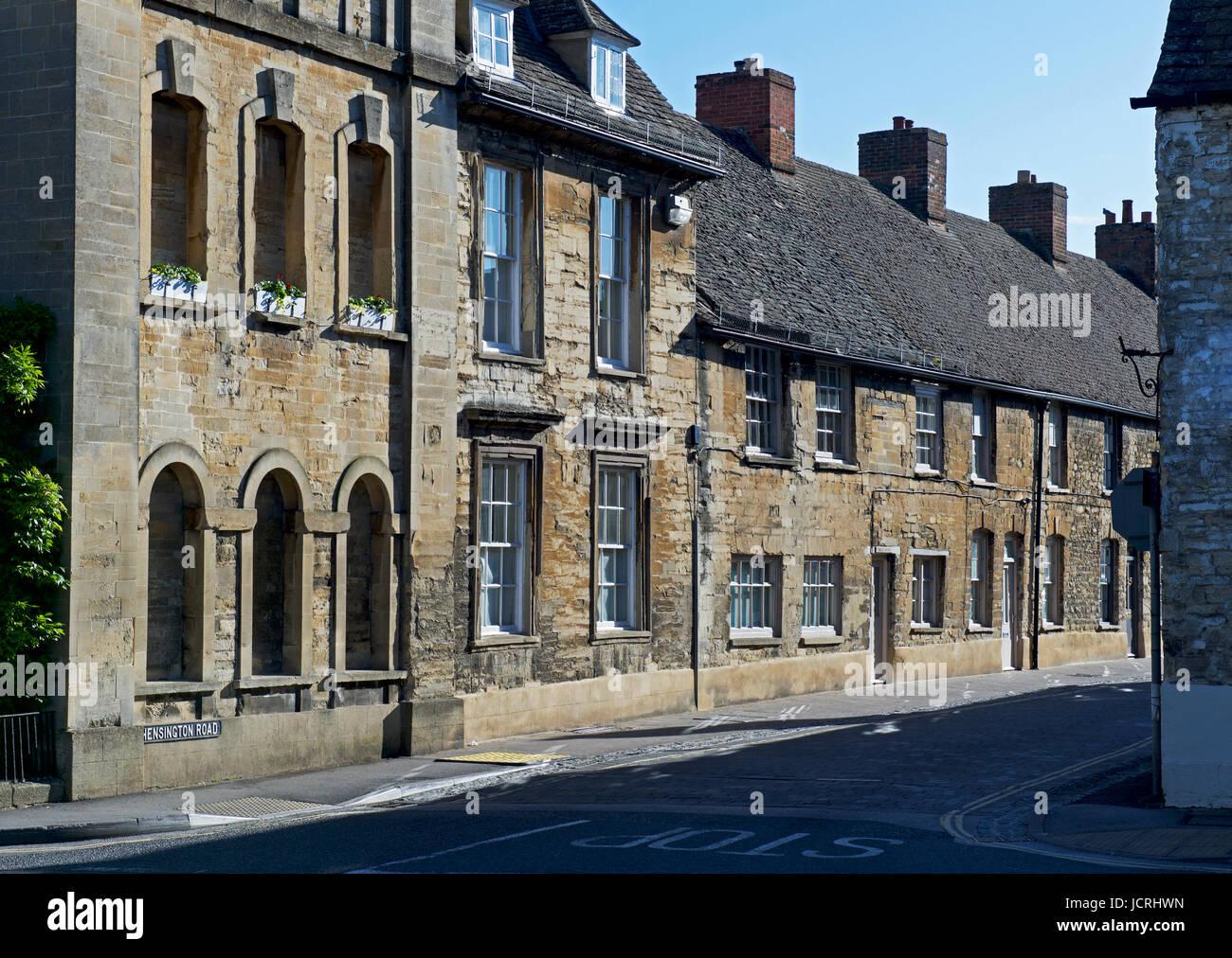 Street in Woodstock, Oxfordshire, England UK - Stock Image