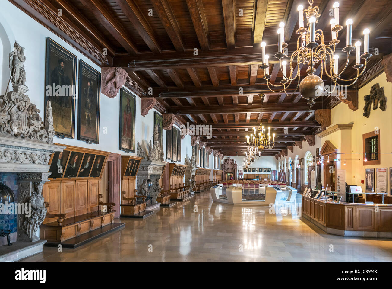 Altes Rathaus Museum (Old Town Hall) Museum, Leipzig, Saxony, Germany - Stock Image