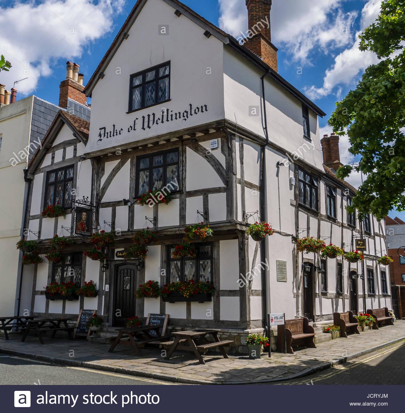 Duke of Wellington Pub Southampton Hampshire England - Stock Image