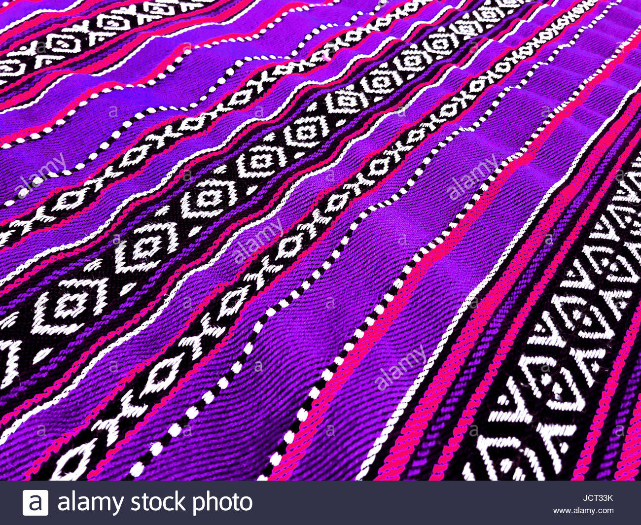 Purple Traditional Sadu Carpet - Stock Image