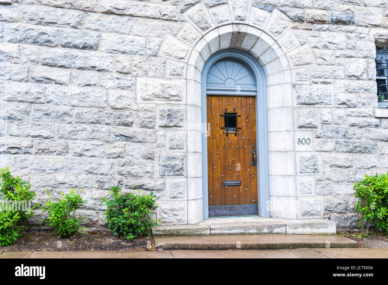 Scranton, USA - May 25, 2017: University of Scranton Office of Undergraduate Admissions entrance at 800 Linden St - Stock Image